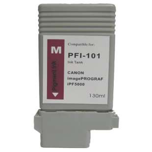 Compatible ink cartridge guaranteed to replace Canon PFI-101M - magenta