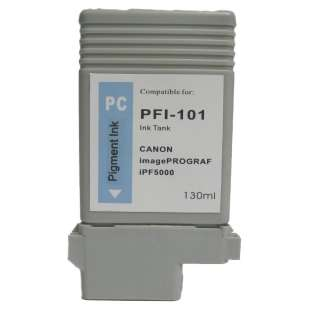 Compatible ink cartridge guaranteed to replace Canon PFI-101PC - photo cyan