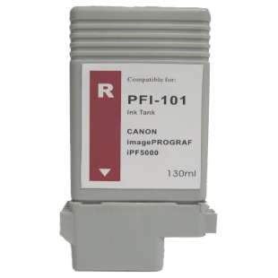 Compatible ink cartridge guaranteed to replace Canon PFI-101R - red