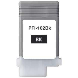 Compatible ink cartridge guaranteed to replace Canon PFI-102BK - black cartridge