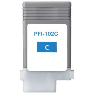 Compatible ink cartridge guaranteed to replace Canon PFI-102C - cyan