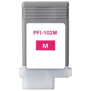 Compatible ink cartridge guaranteed to replace Canon PFI-102M - magenta