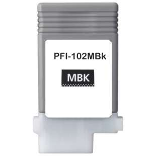 Compatible ink cartridge guaranteed to replace Canon PFI-102MBK - matte black