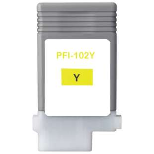 Compatible ink cartridge guaranteed to replace Canon PFI-102Y - yellow
