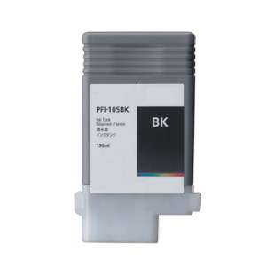 Compatible ink cartridge guaranteed to replace Canon PFI-105BK - black cartridge