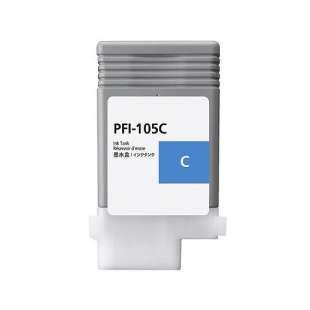 Compatible ink cartridge guaranteed to replace Canon PFI-105C - cyan