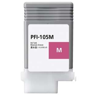 Compatible ink cartridge guaranteed to replace Canon PFI-105M - magenta