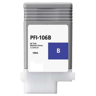 Compatible ink cartridge guaranteed to replace Canon PFI-106B - blue