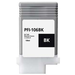 Compatible ink cartridge guaranteed to replace Canon PFI-106BK - black cartridge
