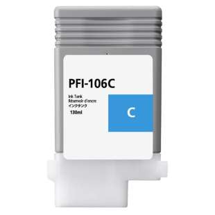 Compatible ink cartridge guaranteed to replace Canon PFI-106C - cyan