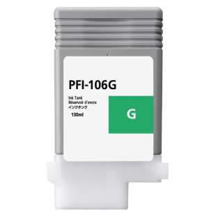 Compatible ink cartridge guaranteed to replace Canon PFI-106G - green