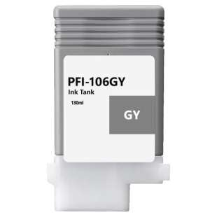 Compatible ink cartridge guaranteed to replace Canon PFI-106GY - gray