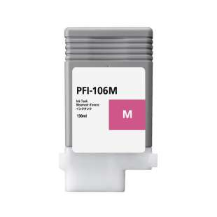 Compatible ink cartridge guaranteed to replace Canon PFI-106M - magenta