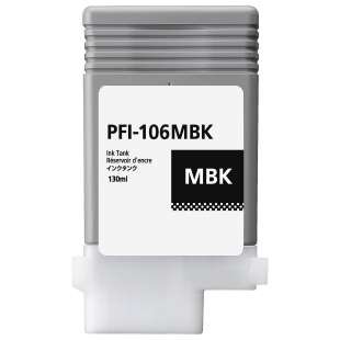 Compatible ink cartridge guaranteed to replace Canon PFI-106MBK - matte black