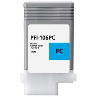 Compatible ink cartridge guaranteed to replace Canon PFI-106PC - photo cyan