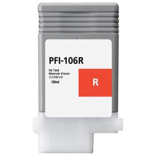 Compatible ink cartridge guaranteed to replace Canon PFI-106R - red
