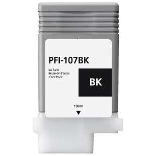 Compatible ink cartridge guaranteed to replace Canon PFI-107BK - black cartridge