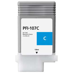Compatible ink cartridge guaranteed to replace Canon PFI-107C - cyan