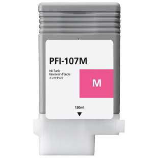 Compatible ink cartridge guaranteed to replace Canon PFI-107M - magenta