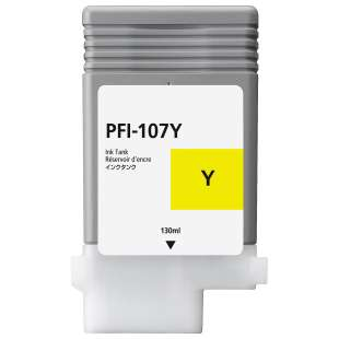 Compatible ink cartridge guaranteed to replace Canon PFI-107Y - yellow