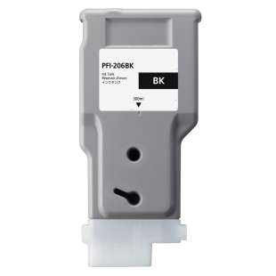 Compatible ink cartridge guaranteed to replace Canon PFI-206BK - black cartridge