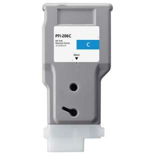 Compatible ink cartridge guaranteed to replace Canon PFI-206C - cyan