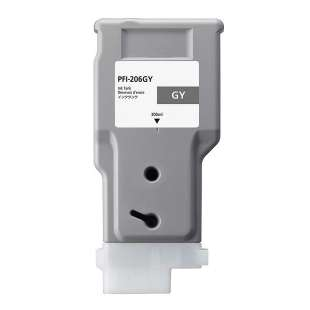 Compatible ink cartridge guaranteed to replace Canon PFI-206GY - gray