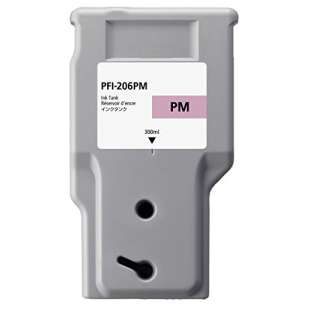 Compatible ink cartridge guaranteed to replace Canon PFI-206PM - photo magenta