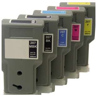 Compatible high quality inkjet cartridges Multipack for Canon PFI-207 - 5 pack