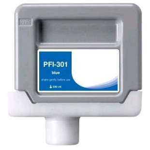 Compatible ink cartridge guaranteed to replace Canon PFI-301B - blue