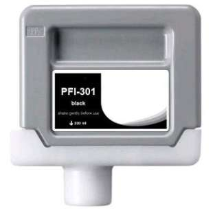 Compatible ink cartridge guaranteed to replace Canon PFI-301BK - black cartridge