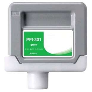 Compatible ink cartridge guaranteed to replace Canon PFI-301G - green