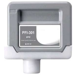 Compatible ink cartridge guaranteed to replace Canon PFI-301GY - gray