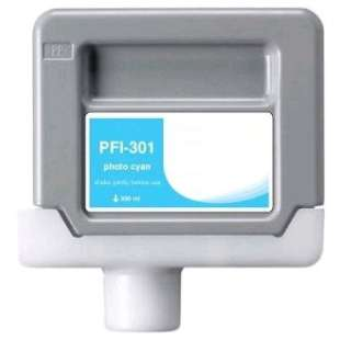 Compatible ink cartridge guaranteed to replace Canon PFI-301PC - photo cyan