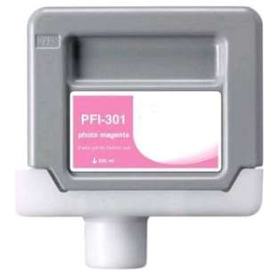 Compatible ink cartridge guaranteed to replace Canon PFI-301PM - photo magenta
