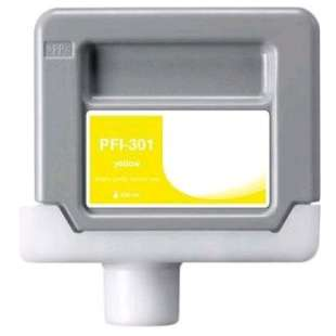 Compatible ink cartridge guaranteed to replace Canon PFI-301Y - yellow