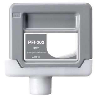 Compatible ink cartridge guaranteed to replace Canon PFI-302GY - gray