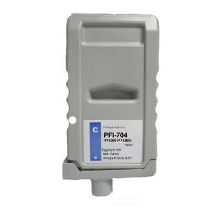 Compatible ink cartridge guaranteed to replace Canon PFI-704C - cyan