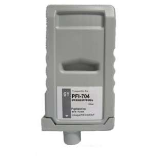 Compatible ink cartridge guaranteed to replace Canon PFI-704GY - gray