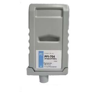 Compatible ink cartridge guaranteed to replace Canon PFI-704PC - photo cyan