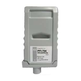 Compatible ink cartridge guaranteed to replace Canon PFI-704PGY - photo grey