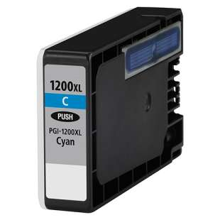 Compatible ink cartridge guaranteed to replace Canon PGI-1200C XL - high capacity cyan