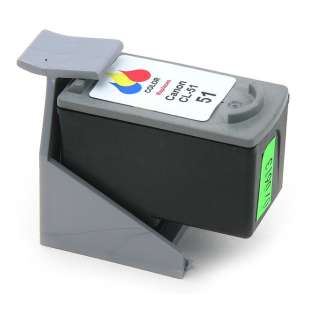 Remanufactured Canon CL-51 high quality inkjet cartridge - color cartridge