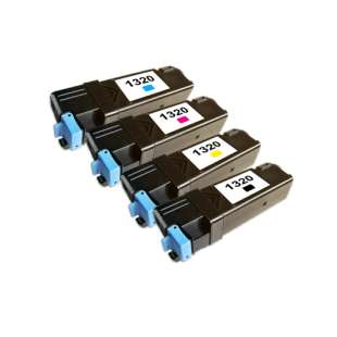Remanufactured for Dell 310-9058 / 310-9060 / 310-9062 / 310-9064 toner cartridges - high capacity - 4-pack