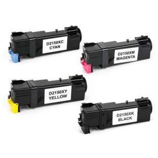 Compatible for Dell 331-0719 / 331-0716 / 331-0717 / 331-0718 toner cartridges - high capacity black - 4-pack