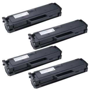Remanufactured Dell 331-7328 (DRYXV/RWXNT) toner cartridge - high capacity black - 4-pack