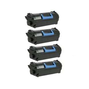 Remanufactured Dell 331-9756 (X5GDJ) toner cartridges - high capacity black - 4-pack