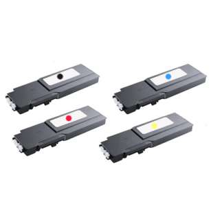 Remanufactured for Dell 331-8429 / 331-8432 / 331-8431 / 331-8430 toner cartridges - extra high capacity - 4-pack