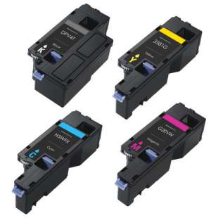 Remanufactured for Dell 593-BBJX / 593-BBJU / 593-BBJV / 593-BBJW toner cartridges - 4-pack