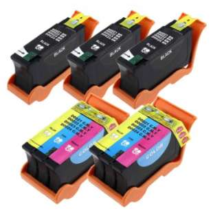 Compatible high quality inkjet cartridges Multipack for Dell Series 21, 22, 23, 24 - high capacity - 5 pack
